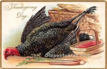 hol061167 - Thanksgiving Old Vintage Antique Postcard Post Card