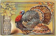 hol061169 - Thanksgiving Old Vintage Antique Postcard Post Card