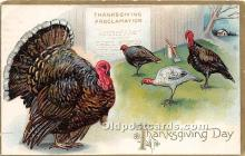 hol061170 - Thanksgiving Old Vintage Antique Postcard Post Card