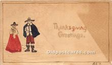 hol061171 - Thanksgiving Old Vintage Antique Postcard Post Card