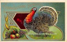hol061174 - Thanksgiving Old Vintage Antique Postcard Post Card