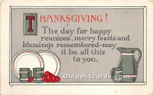 hol061175 - Thanksgiving Old Vintage Antique Postcard Post Card