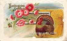 hol061176 - Thanksgiving Old Vintage Antique Postcard Post Card