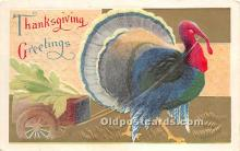 hol061177 - Thanksgiving Old Vintage Antique Postcard Post Card