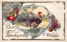 hol061180 - Thanksgiving Old Vintage Antique Postcard Post Card