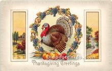 hol061181 - Thanksgiving Old Vintage Antique Postcard Post Card