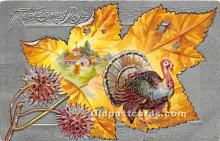 hol061187 - Thanksgiving Old Vintage Antique Postcard Post Card
