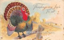 hol061192 - Thanksgiving Old Vintage Antique Postcard Post Card