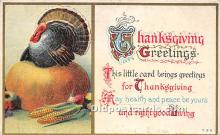 hol061193 - Thanksgiving Old Vintage Antique Postcard Post Card