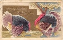 hol061194 - Thanksgiving Old Vintage Antique Postcard Post Card