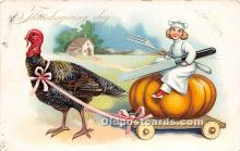 hol061195 - Thanksgiving Old Vintage Antique Postcard Post Card
