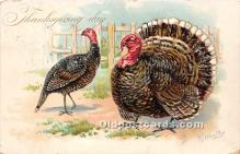 hol061200 - Thanksgiving Old Vintage Antique Postcard Post Card