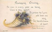 hol061202 - Thanksgiving Old Vintage Antique Postcard Post Card