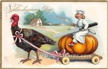 hol061209 - Thanksgiving Old Vintage Antique Postcard Post Card