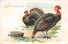hol061213 - Thanksgiving Old Vintage Antique Postcard Post Card