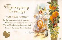hol061214 - Thanksgiving Old Vintage Antique Postcard Post Card
