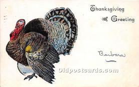 hol061217 - Thanksgiving Old Vintage Antique Postcard Post Card