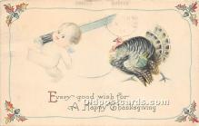 hol061218 - Thanksgiving Old Vintage Antique Postcard Post Card