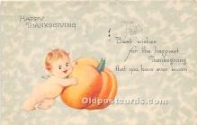 hol061219 - Thanksgiving Old Vintage Antique Postcard Post Card