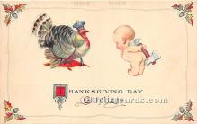 hol061220 - Thanksgiving Old Vintage Antique Postcard Post Card