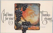 hol061221 - Thanksgiving Old Vintage Antique Postcard Post Card