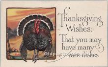 hol061223 - Thanksgiving Old Vintage Antique Postcard Post Card