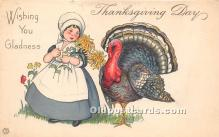 hol061224 - Thanksgiving Old Vintage Antique Postcard Post Card