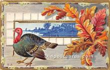 hol061226 - Thanksgiving Old Vintage Antique Postcard Post Card