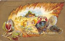 hol061229 - Thanksgiving Old Vintage Antique Postcard Post Card