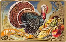 hol061230 - Thanksgiving Old Vintage Antique Postcard Post Card