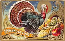 hol061231 - Thanksgiving Old Vintage Antique Postcard Post Card