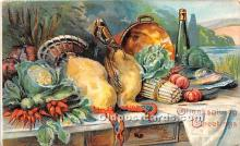 hol061232 - Thanksgiving Old Vintage Antique Postcard Post Card