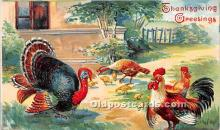 hol061233 - Thanksgiving Old Vintage Antique Postcard Post Card