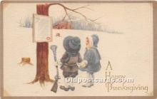 hol061234 - Thanksgiving Old Vintage Antique Postcard Post Card