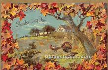 hol061236 - Thanksgiving Old Vintage Antique Postcard Post Card