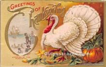 hol061237 - Thanksgiving Old Vintage Antique Postcard Post Card