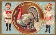 hol061238 - Thanksgiving Old Vintage Antique Postcard Post Card