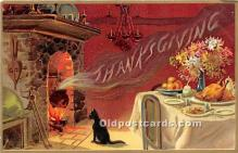 hol061239 - Thanksgiving Old Vintage Antique Postcard Post Card