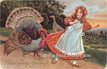 hol061241 - Thanksgiving Old Vintage Antique Postcard Post Card