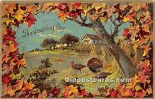 hol061244 - Thanksgiving Old Vintage Antique Postcard Post Card