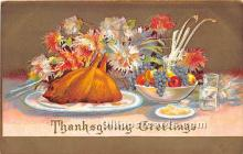hol061246 - Thanksgiving Old Vintage Antique Postcard Post Card