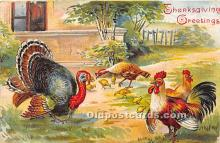 hol061247 - Thanksgiving Old Vintage Antique Postcard Post Card