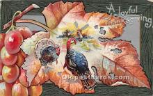 hol061249 - Thanksgiving Old Vintage Antique Postcard Post Card