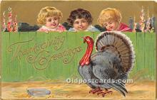 hol061250 - Thanksgiving Old Vintage Antique Postcard Post Card