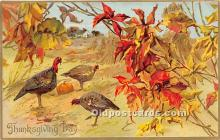 hol061253 - Thanksgiving Old Vintage Antique Postcard Post Card
