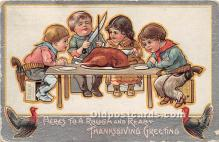 hol061257 - Thanksgiving Old Vintage Antique Postcard Post Card