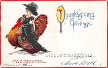 hol061259 - Thanksgiving Old Vintage Antique Postcard Post Card