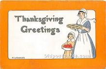 hol061260 - Thanksgiving Old Vintage Antique Postcard Post Card