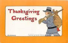 hol061261 - Thanksgiving Old Vintage Antique Postcard Post Card