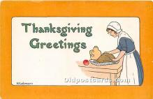 hol061262 - Thanksgiving Old Vintage Antique Postcard Post Card